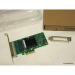 Intel Quad Port Four RJ45 NIC Desktop PCIe Network LAN Adapter Card Low Profile